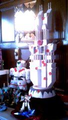 1/2? Scale Virgin Road Wedding Cake