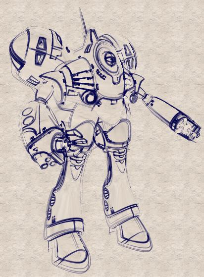 Queadluun Rau - Fatboy in pencil render