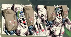 Macross Destroyed Tomahawk Cel plus Background