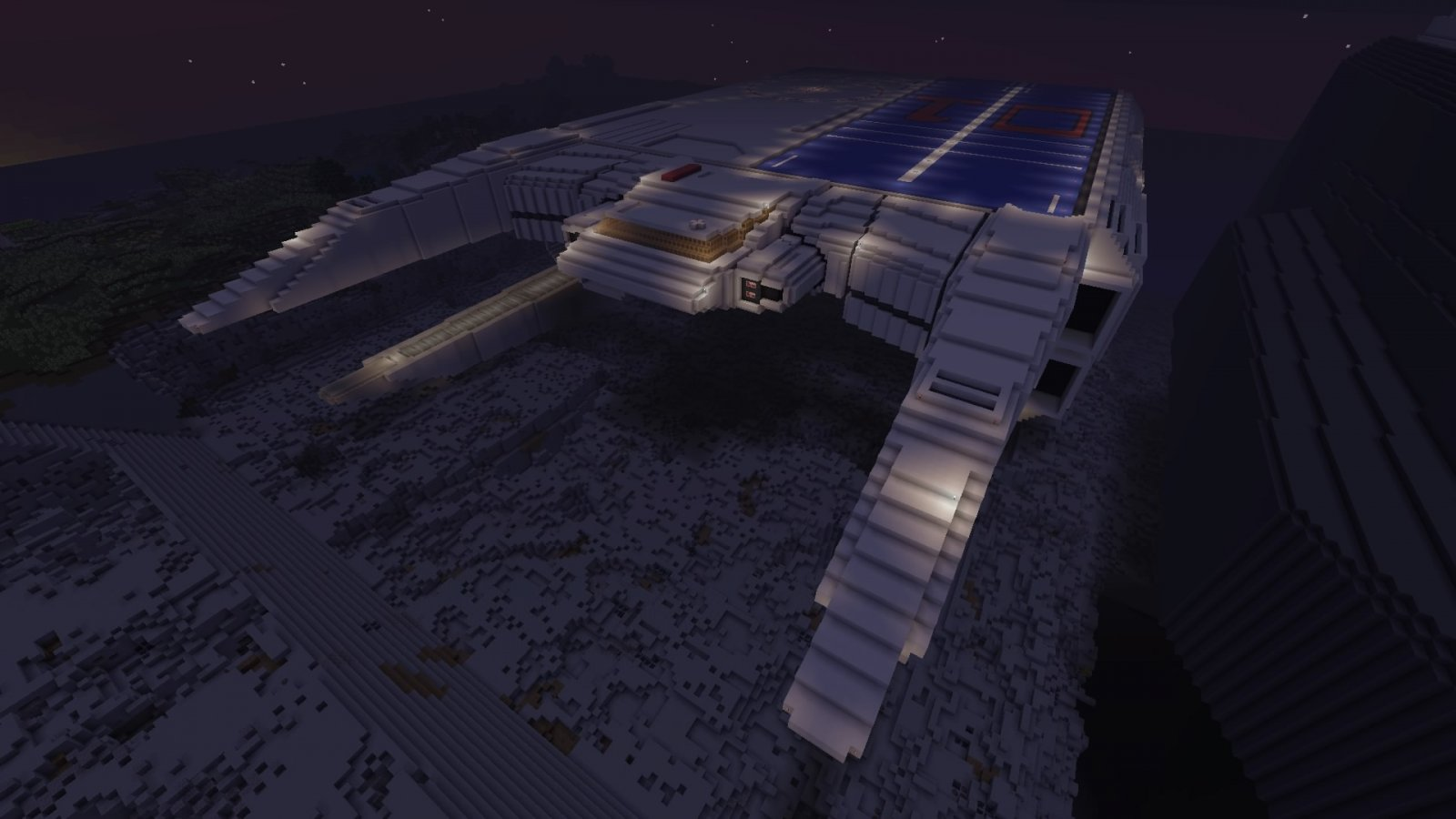 Front of ARMD-1 at night